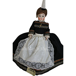 Poupees Cadette Doll, France, 11 IN, Original Label and Costume, French Doll