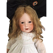 Antique Unis France 251 French Bisque Doll, 18 IN, Wobble Tongue,Toddler Body