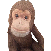 "Schuco Monkey ""Tricky"" Vintage Schuco Yes/No Mohair Monkey, 10 IN, Germany"