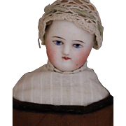 Antique Parian Doll 8 IN Antique German Parian Doll Antique Costume, Solid Dome