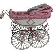 UFDC Marklin Baby Carriage 1999 Miniature Doll Pram Metal Doll Carriage Pink!