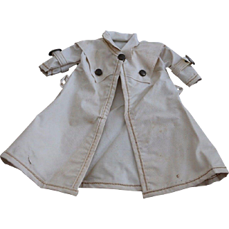 1950's Ideal Shirley Temple Doll Rain Coat 12 IN Doll, Vinyl Rain Jacket White