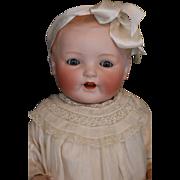 Antique Louis Amberg Bisque Vanta Baby, 23 IN, Rare German Bisque Doll, Ca. 1927