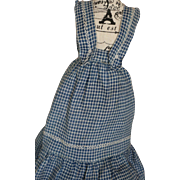 Antique Cotton Doll Pinafore Jumper, Ca. 1890's, Antique Doll Dress Antique Gown