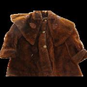 Antique Child's Mohair Coat, Antique Large Doll Coat, 1910s, Antique Mohair Coat