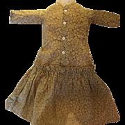 Antique Doll Dress, Antique Cotton Doll Dress, 19th Century China Doll Dress