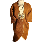 Antique Art Deco Doll Robe Jacket for Flapper Body Antique Doll