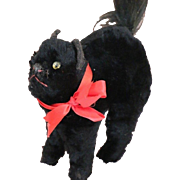 Farnell Black Cat Made in England 15 IN Vintage Farnell Mohair Plush Cat Label