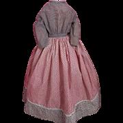 Antique Doll Dress 1800s Antique Cotton Doll Dress China, Papier Mache, Wax Doll