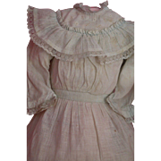 Antique Doll Dress, Cotton Doll Dress w Lace Antique Bisque Dolls Paris Find!