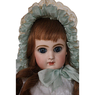 """Antique Jumeau Bebe Reclaime French Doll Size 7 Antique French Bisque Doll 17"""""""