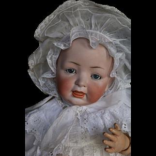 "Antique Hertel, Schwab & Co 142 13 Doll, LARGE Antique Lifesize 24"" Bisque Doll"