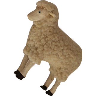Vintage Toy Sheep, 3 3/4 IN Tall, Vintage Sheep Toy, Vintage German Lamb Toy
