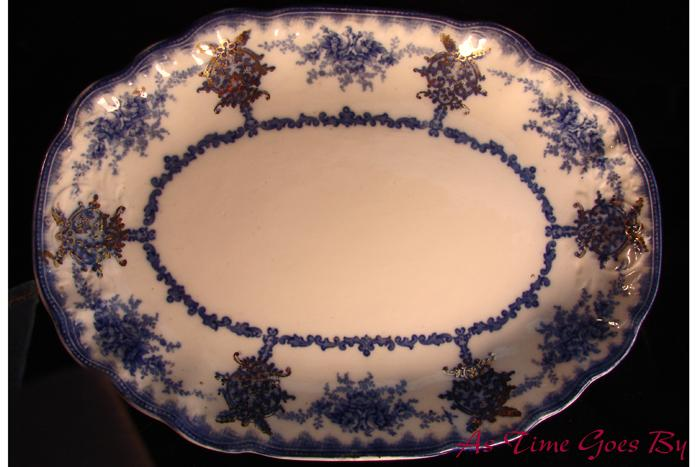 Victorian Flow Blue Staffordshire Platter - Milan, New Wharf Pottery