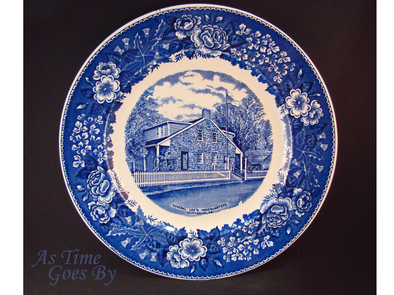 Staffordshire Commemorative Plate -Lee's Headquarters, Gettysburg, PA