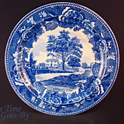 Staffordshire Commemorative Plate - Whittier's Birthplace