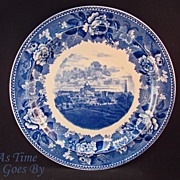 Staffordshire Commemorative Plate - Boston Common and State House 1836