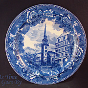 Staffordshire Commemorative Plate -Old South Church, Boston