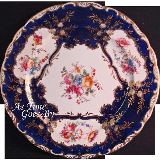 Aynsley Aristocrat Cobalt Blue Dessert Plate