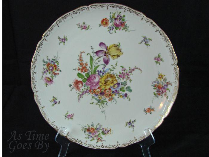 Hand Painted Dresden Platter - Hirsch