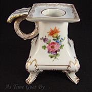 Hand Painted Dresden Floral Candle Stick - Thieme