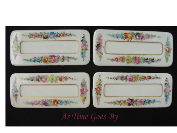 Dresden Hand Painted Porcelain Dining Place Cards 4 - Lamm