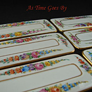 Dresden Hand Painted Porcelain Dining Place Cards - Lamm