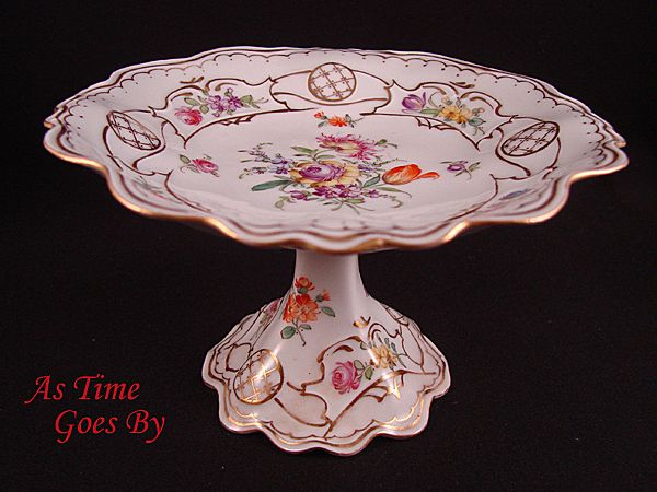 Handpainted Petite Dresden Flower Tazza from Hirsch Studio