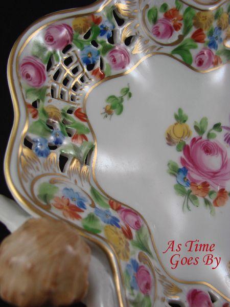 Hand Painted Porcelain Trademark Flower