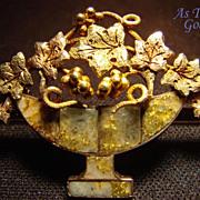 Antique Gold Rush Brooch in Original Box