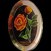 Vintage Lucite Carved Rose Brooch
