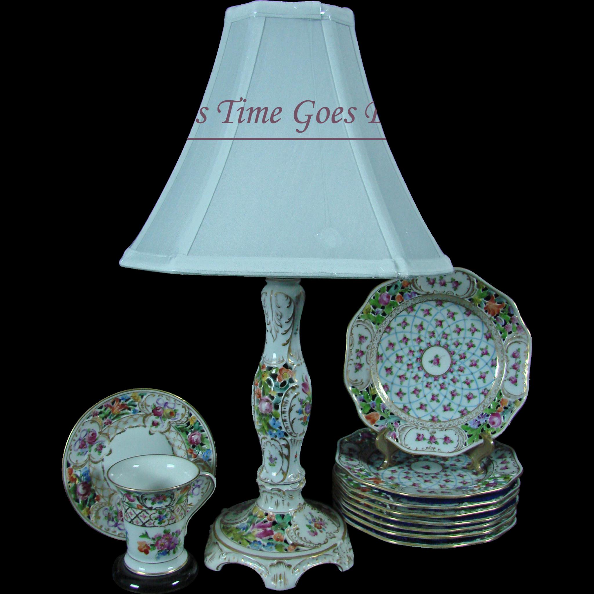 Vintage Porcelain Lamp 120