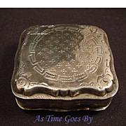 Antique Hallmarked Silver Snuff Box