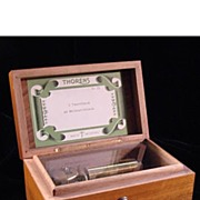 Vintage Two Tune Swiss Music Box - Thorens