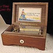 Vintage Three Melody Swiss Music Box - Lador
