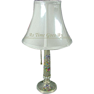 Hand Painted Dresden Porcelain Table Lamp - Carl Thieme