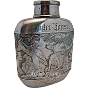 Antique Art Deco Flask from Senter House, Lake Winnispaesaukee, NH - 1892