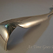 Antique Philadelphia Coin Silver Hanging Mustard Spoon - Peters