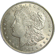 Brilliant Uncirculated 1921 Siver dollar