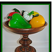 Victorian Turned Walnut Compote