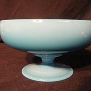Cambridge Glass Azurite Footed Compote 1920's