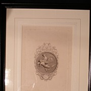 "19th cen. Greek Classic Black & White Engraving ""The Keepsake for 1831"""