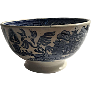 Blue Willow Cafe au Lait Bowl Societies Ceramique Maestricht Holland c.1900