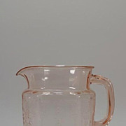"Pink Princess 6 "" PItcher Depression Glass"