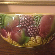 French Majolica Sarreguemines Fruit Bowl c.1910-1920