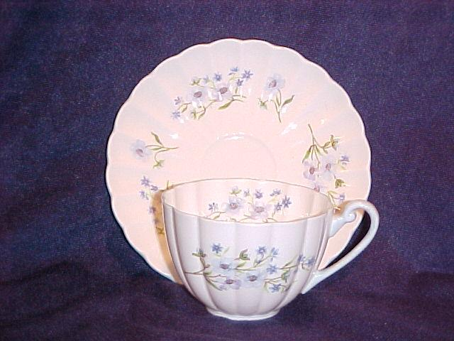 Shelley Blue Rock Ludlow Cup & Saucer