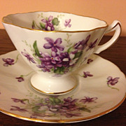 Rossetti Spring Violets Occupied Japan Cup & Saucer 1945-1952