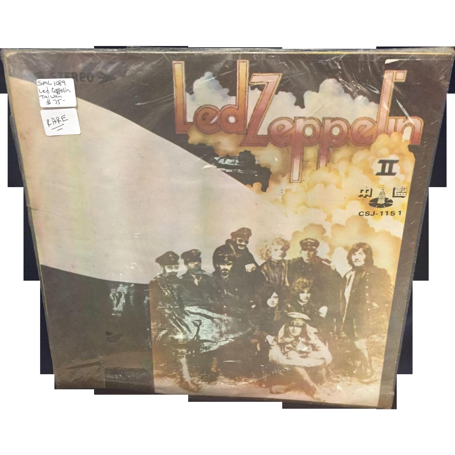 Rare Led Zeppelin II Vinyl Record Taiwan CSJ-1151