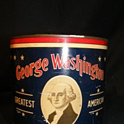 George Washington Cut Plug Tobacco Tin 1926 RJ Reynolds