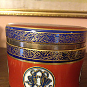 Vintage English Tobacco Jar The Buddhist Emblems of Happy Augury - Red Tag Sale Item